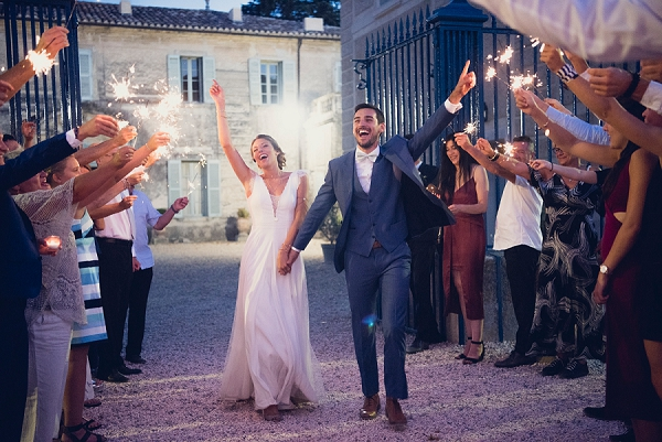 sparkler exit wedding day