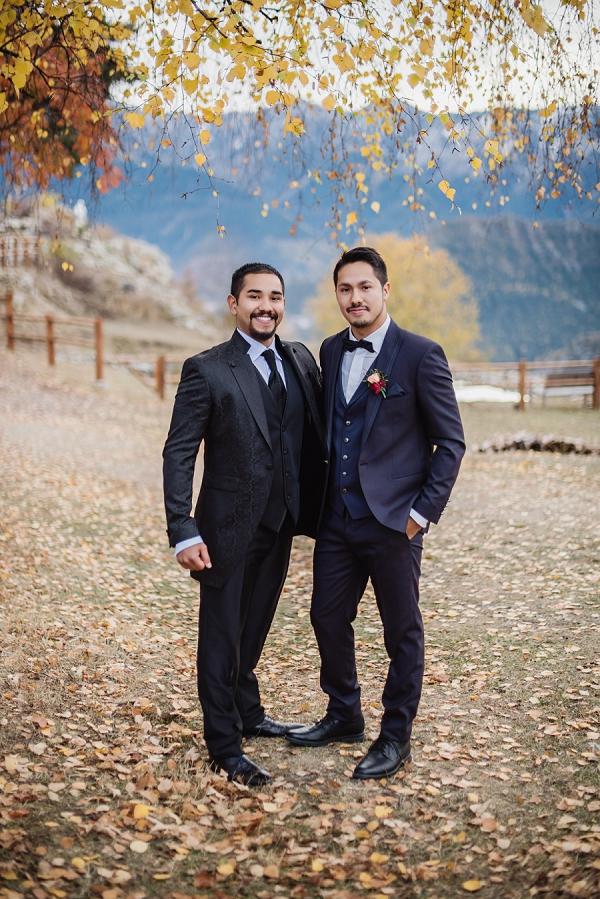 three piece wedding suit