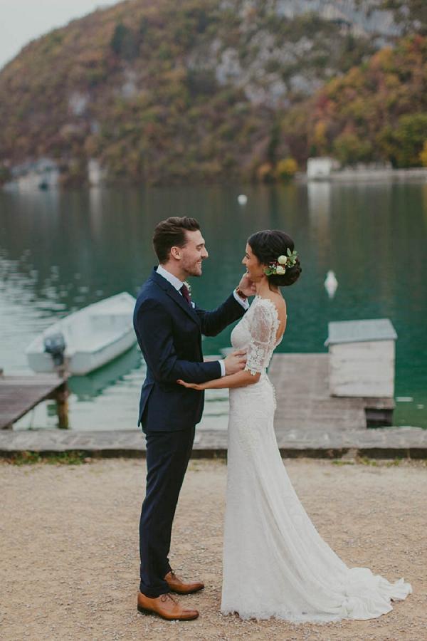 three quarter length wedding dress sleeves