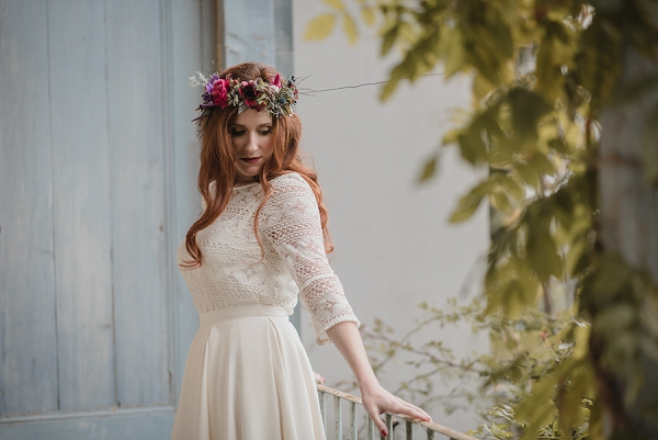 two piece vintage wedding dress