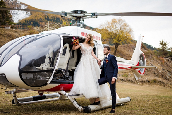 wedding helicopter hire