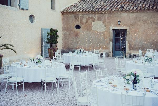 white table decor