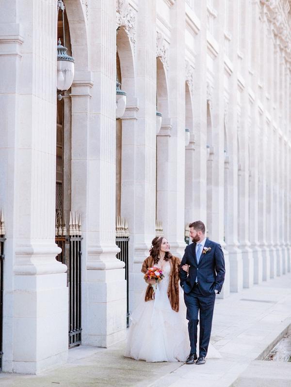 winter Paris wedding