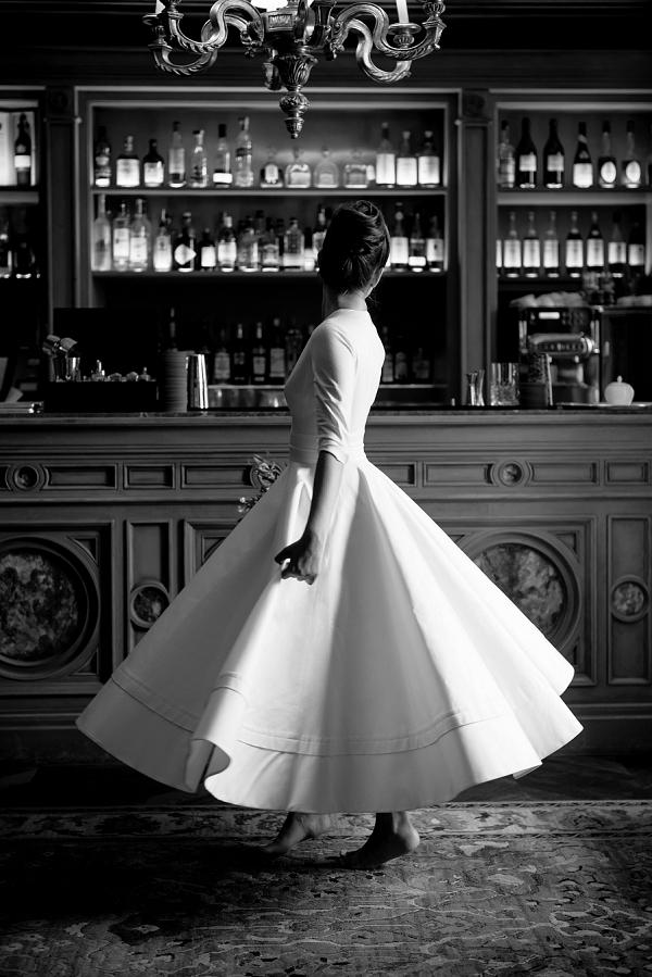 1950s inspired wedding dress