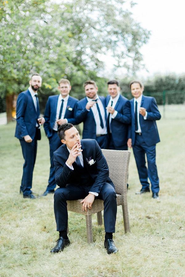 Alternative groom portrait