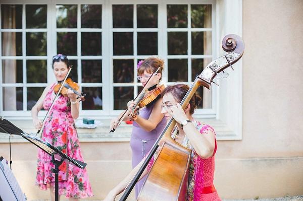 Borsalino string trio wedding entertainment