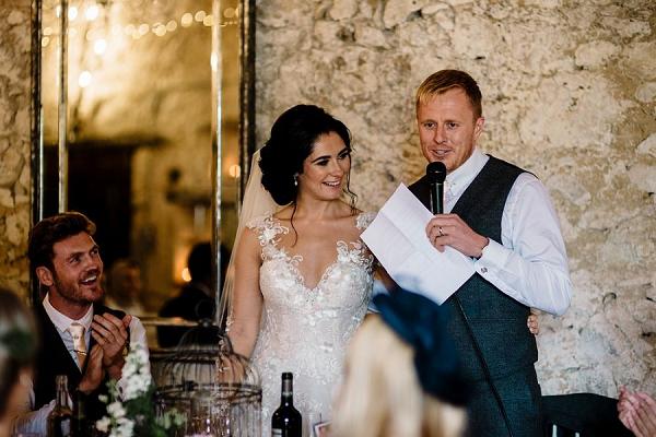 Chateau wedding toasts