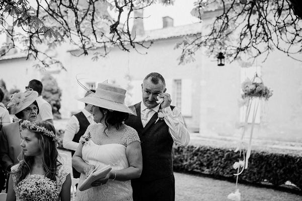 Emotional outdoor wedding ceremony