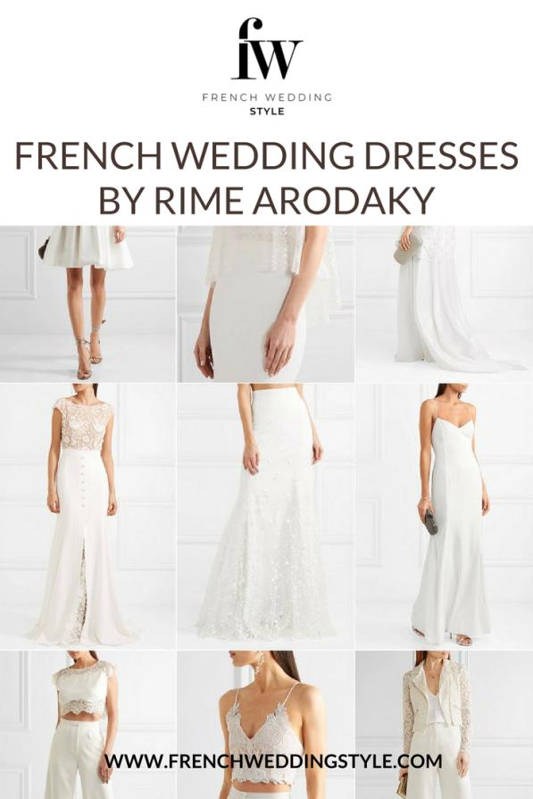 French Wedding Dresses by Rime Arodaky