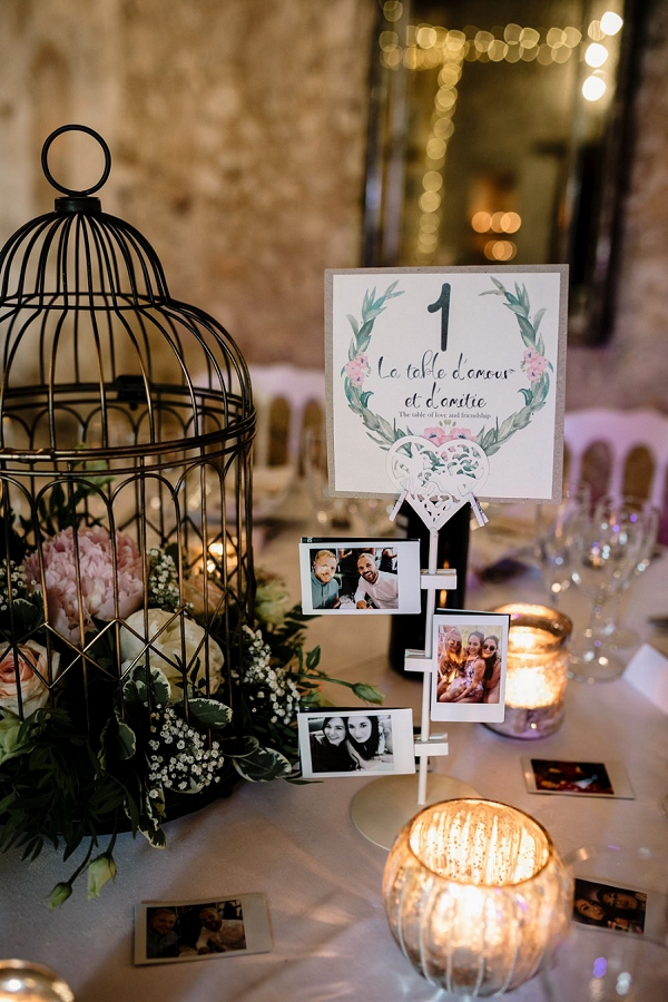 French wedding table details