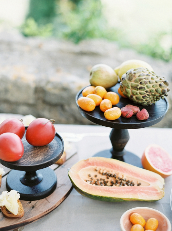 Intimate Summer Anniversary fruit platter