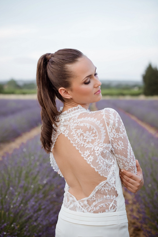 Laure de Sagazan backless wedding suit