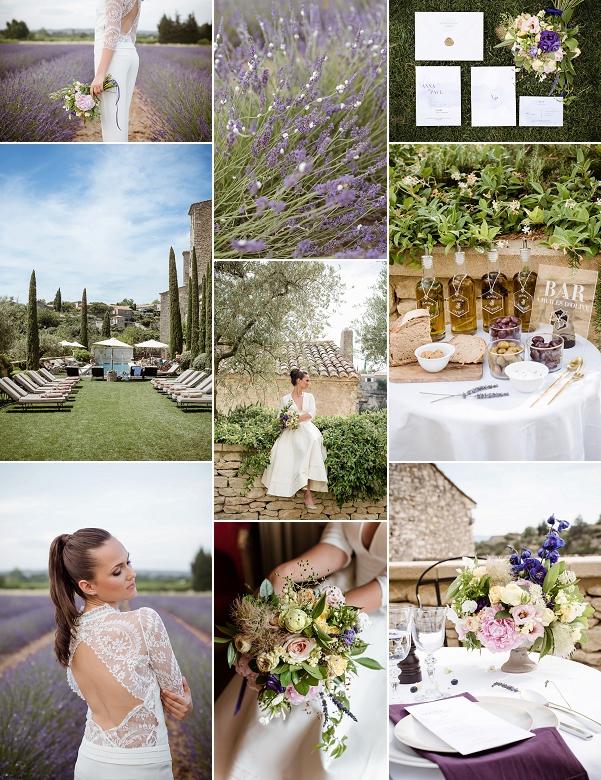 Lavender Bastide de Gordes wedding Inspiration Snapshot