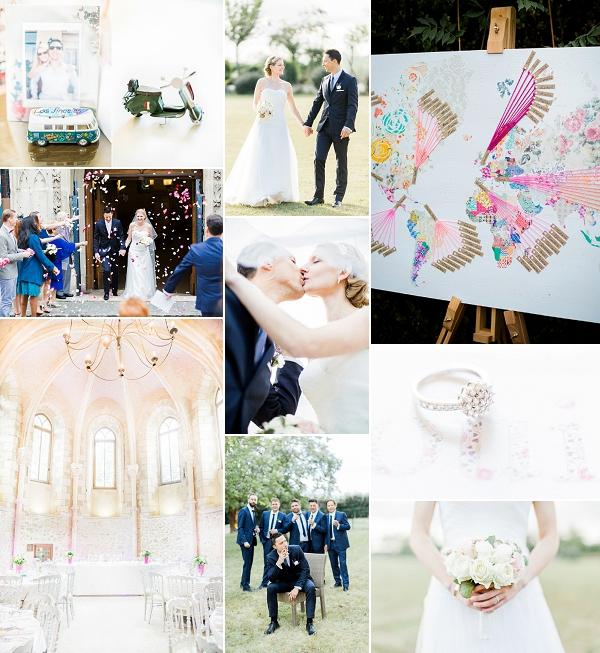 Light and Airy Le Prieuré de Vernelle Real Wedding Snapshot