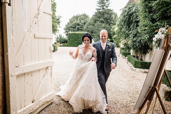 Mr Mrs wedding breakfast entrance