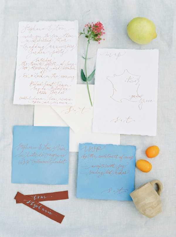 Nice Plume wedding stationery