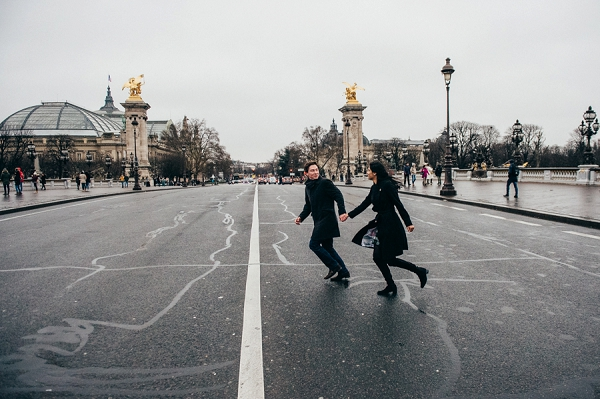 Pont Alexandre III engagement session
