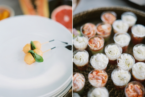 Provencal wedding canapes