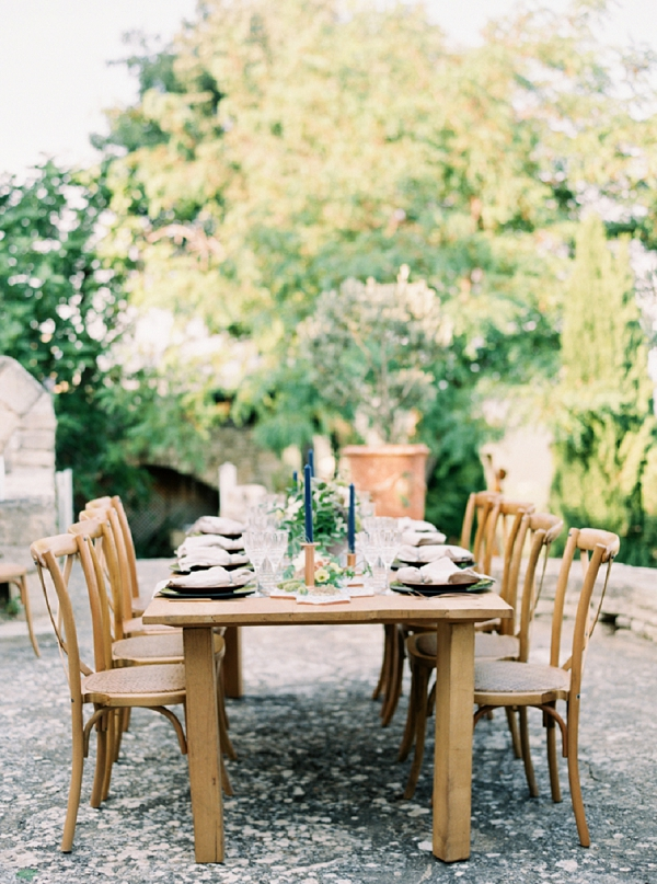 Provence outdoor wedding breakfast