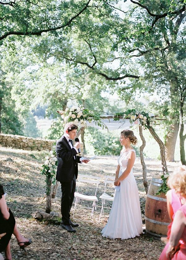 Provence outdoor wedding vows
