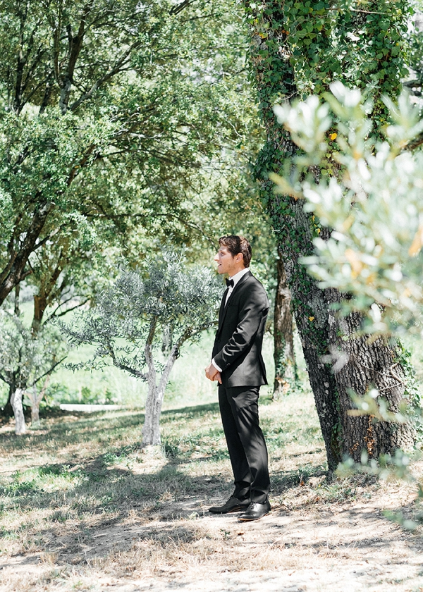 Provence wedding first look