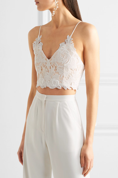 Rime Arodaky Lalie Lace and crepe bustier top