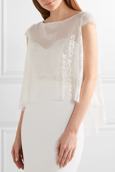 Rime Arodaky Spell asymmetric sequined tulle top