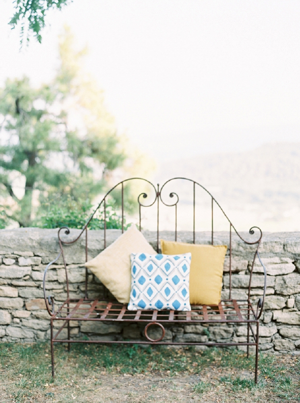 Rustic seating area for a Summer Anniversary