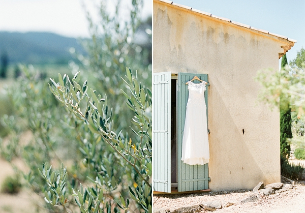 Sun drenched Provence wedding