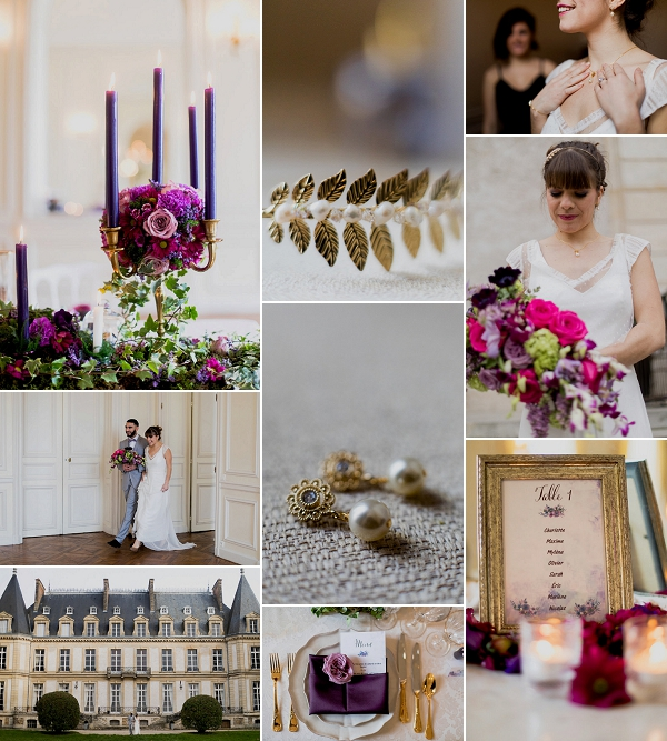 Violet Inspired Château de Santeny Wedding Snapshot