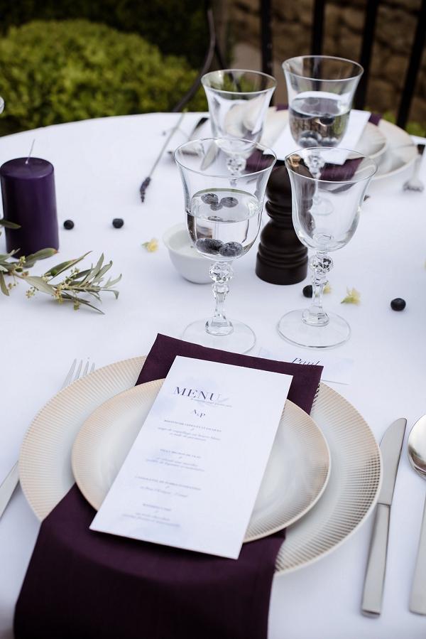 deep purple wedding theme