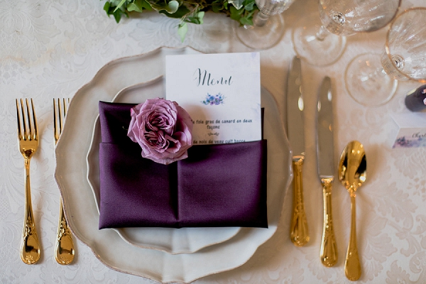 elegant chateau tablescape