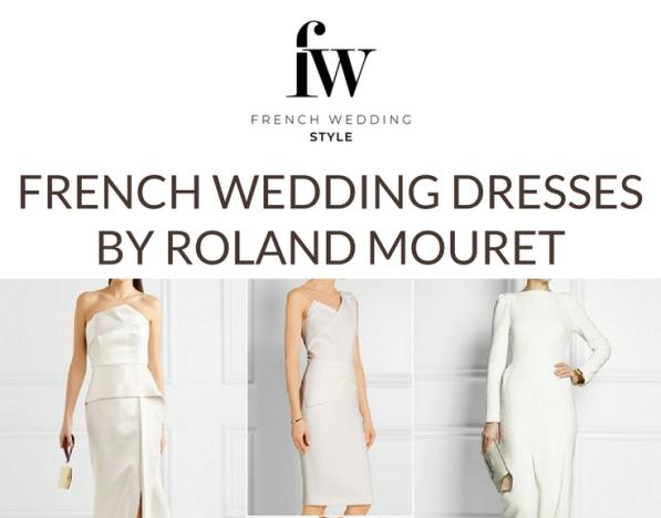 Roland Mouret French Wedding Dresses
