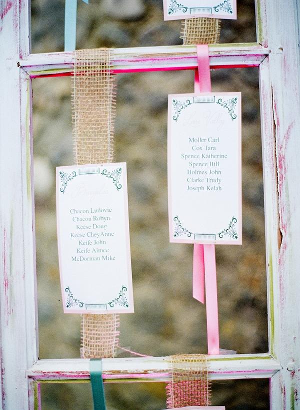 homemade wedding table plan