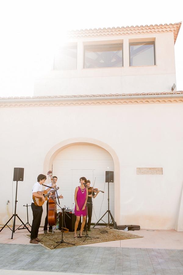 live music french wedding