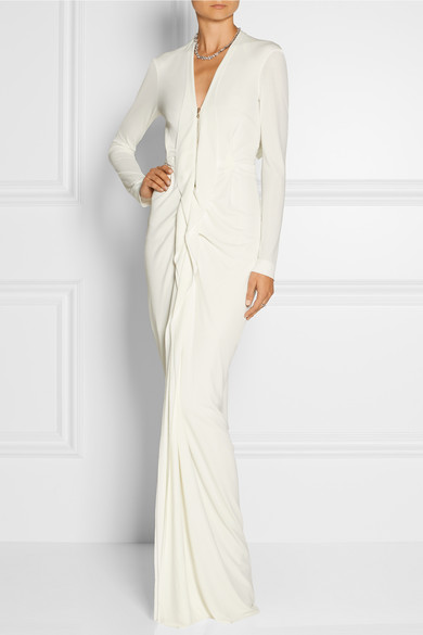 roland mouret stretch crepe gown