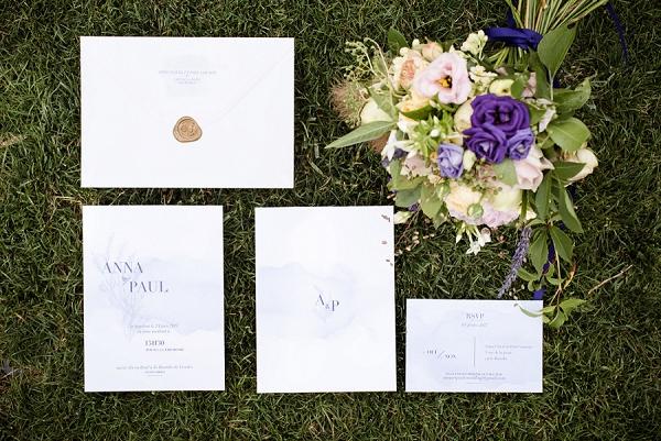 simple and elegant wedding invite
