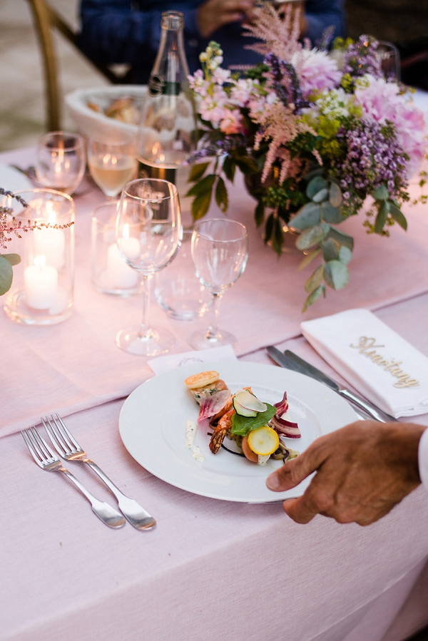 stylish wedding food