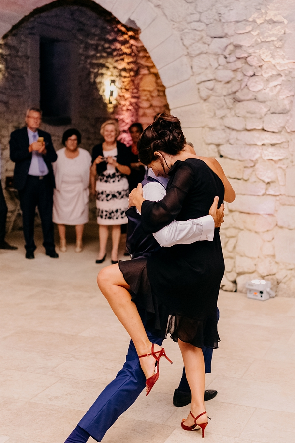 Argentine tango first dance