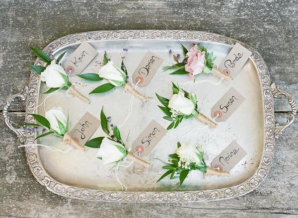 Bordeaux florist boutonnieres
