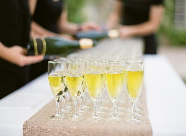 Bordeaux wedding champagne reception