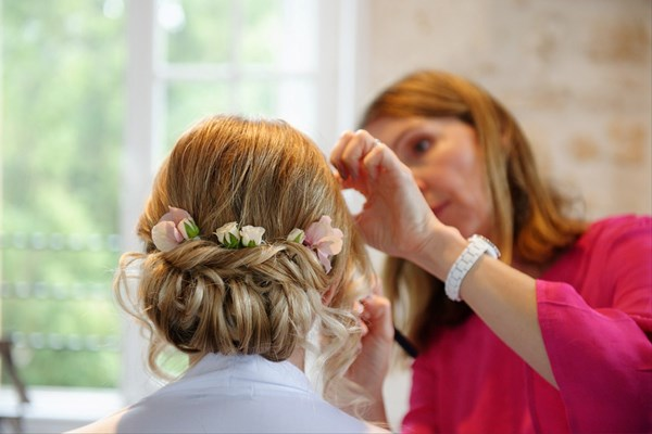Carey Hawkins Wedding Hair and Make Up