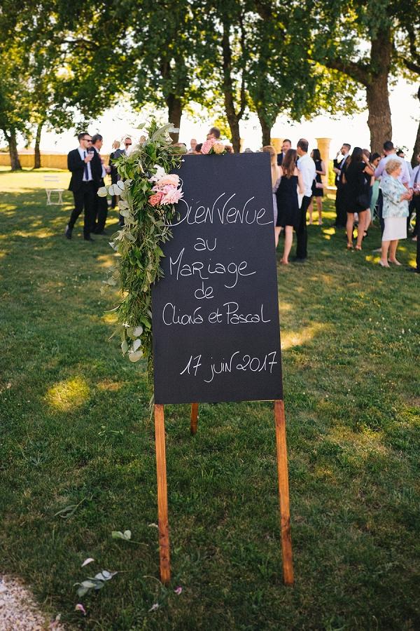 Chalkboard wedding sign ideas
