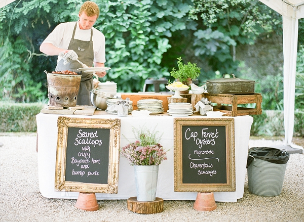 Chateau Riguard wedding catering