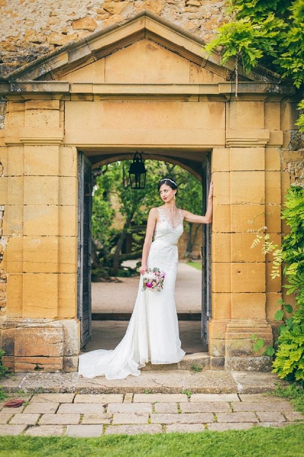 Chateau de Bagnols bridal portraits
