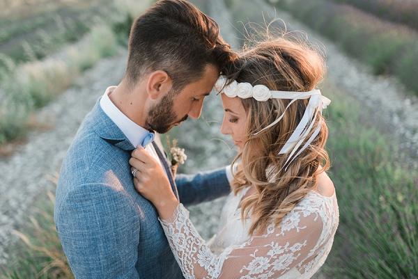 Chic Lavender Field Provence Wedding