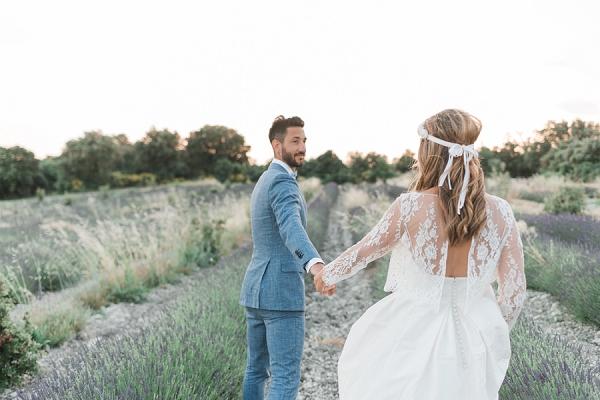 Chic Lavender Field Wedding