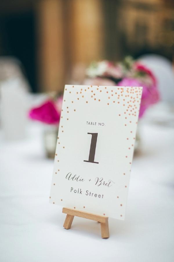 Easel wedding table numbers