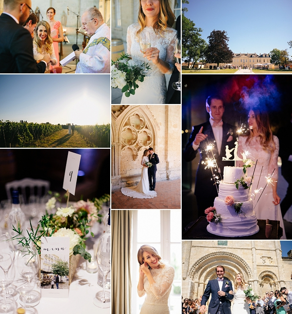 Fun Château Soutard Real Vineyard Wedding Snapshot