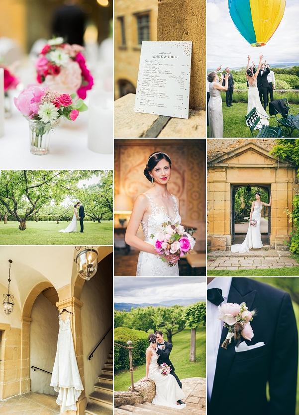 Heartfelt Outdoor Château de Bagnols Real Wedding Snapshot